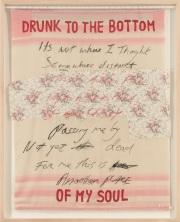 Dílo Tracey Eminové, které je součástí sbírky moderního britského umění z pozůstalosti zpěváka George Michaela.