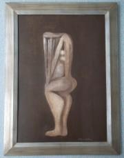 Obraz Kristiána Kodeta s figurou ženy.