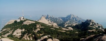 Pohoří Montserrat - výhled z vrcholu Sant Jeroni