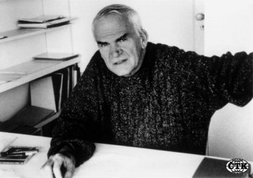 Milan Kundera, spisovatel a básník.