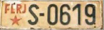 Slovinská registrační značka.