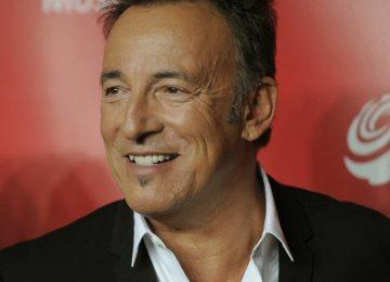 Zpěvák Bruce Springsteen.