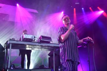 V Ostravě končil 21. července 2018 sedmnáctý ročník mezinárodního hudebního festivalu Colours of Ostrava. Na snímku je zpěvák Daníel Ágúst Haraldsson z islandské skupiny GusGus.
