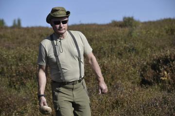 Ruský prezident Vladimir Putin na Sibiři.
