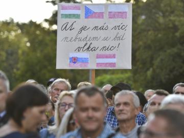 Demonstrace nazvaná Orbán za nás, my za Orbána, jejíž účastníci 20. září 2018 v Praze vyjádřili podporu postojům maďarského premiéra vůči imigrační politice EU.