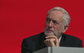 Předseda labouristů Jeremy Corbyn.