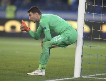 Český fotbalový brankář Jiří Pavlenka.