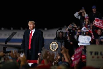 Americký prezident Donald Trump na předvolebním shromáždění ve městě Missoula v Montaně.