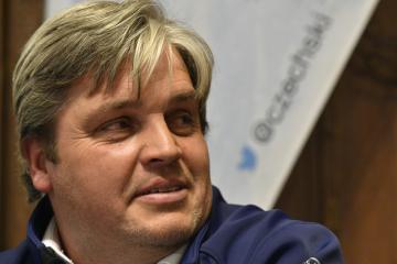 Předseda Úseku alpských disciplín Svazu lyžařů ČR Ladislav Forejtek vystoupil na předsezonní tiskové konferenci 23. října 2018 v Praze.
