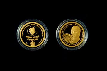 Pamětní minci ze série České tenisové legendy, která je věnována dvojnásobné wimbledonské vítězce Petře Kvitové, představila Česká mincovna 5. listopadu 2018 v Jablonci nad Nisou.