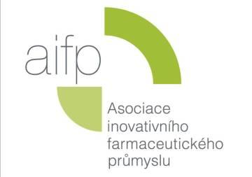 Logo AIFP (Asociace inovativního farmaceutického průmyslu).