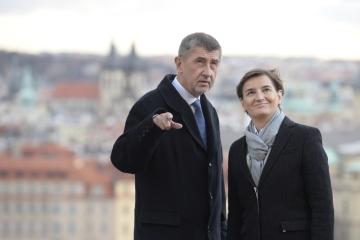 Premiér Andrej Babiš se setkal 10. prosince 2018 v Praze se srbskou předsedkyní vlády Anou Brnabičovou.