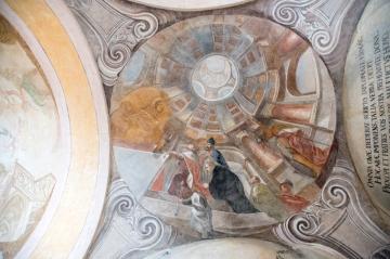 V Sázavském klášteře odkrývají a restaurují fresky s výjevy ze života sv. Prokopa (na snímku z 20. prosince 2018) v křížové chodbě bývalého konventu.