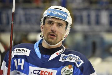 Utkání 32. kola hokejové extraligy: HC Kometa Brno - HC Oceláři Třinec, 4. ledna 2019 v Brně. Tomáš Plekanec z Brna.