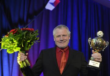 Vyhlášení ankety Veslař roku 2018, 12. ledna 2019 v Praze. Milan Doleček převzal cenu pro nejlepšího trenéra.