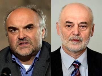 Na kombinovaném archivním snímku docenti Jiří Fajt (vlevo) a Ivan Ošťádal z Univerzity Karlovy.