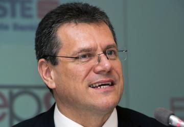 Místopředseda Evropské komise (EK) Maroš Šefčovič (na snímku z 2. dubna 2015) bude kandidovat na slovenského prezidenta v březnových přímých volbách. Oznámil to 18. ledna 2019 na tiskové konferenci v Bratislavě.