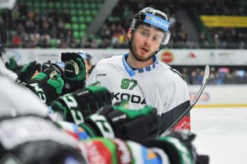Hokejista Radim Zohorna z Mladé Boleslavi.
