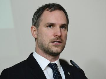 Pražský primátor Zdeněk Hřib (Piráti) představil 4. února 2019 v Praze půlroční plán pražské koalice.