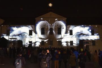 Videomapping na budově Nové radnice v Brně zahájil 6. března 2019 Dny elektronové mikroskopie. Při projekci se představily obrazy, které jsou k vidění právě pod mikroskopem, například mnohokrát zvětšená plíseň, paraziti, hmyzí křídla, pyl, bakterie, oko mušky či komára a také nervová síť. Dny elektronové mikroskopie se konají již potřetí a mají zájemcům zpřístupnit obor, který Brno proslavil ve světě vědy.