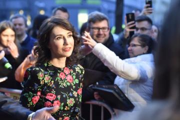 Nizozemská herečka Carice van Houtenová přichází 12. března 2019 v Brně na premiéru filmu režiséra Julia Ševčíka Skleněný pokoj.