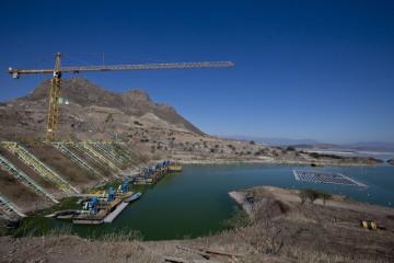 Plovoucí solární elektrárna v Chile.