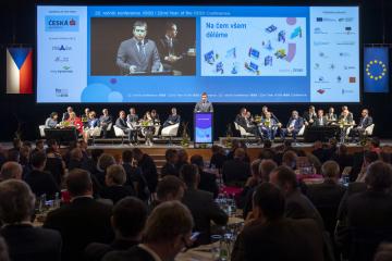 Ministr vnitra Jan Hamáček (ČSSD) vystoupil 1. dubna 2019 v Hradci Králové na dvoudenní mezinárodní konferenci Internet ve státní správě a samosprávě (ISSS).
