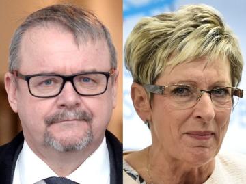 Na kombinovaném snímku ministr dopravy Dan Ťok (vlevo) a ministryně průmyslu a obchodu Marta Nováková.