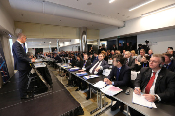Pražská konference u příležitosti 10. výročí vzniku Východního partnerství, na snímku vlevo premiér Andrej Babiš.