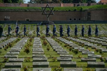 Tryzna za oběti nacistické perzekuce 19. května 2019 na Národním hřbitově v Terezíně na Litoměřicku.