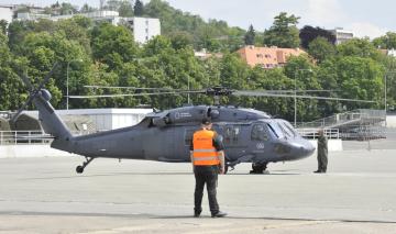 Na brněnském výstavišti přistál 26. května 2019 vrtulník americké výroby Sikorsky UH-60A Black Hawk. Stroj bude vystaven na veletrhu obranné a bezpečnostní techniky IDET.