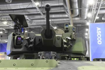 Na brněnském výstavišti pokračovaly 30. května 2019 veletrh obranné a bezpečnostní techniky IDET, veletrh bezpečnostní techniky a služeb ISET a veletrh požární techniky a služeb PYROS. Na snímku je bojové vozidlo pěchoty ASCOD 2 na stánku společnosti General Dynamics European Land Systems.