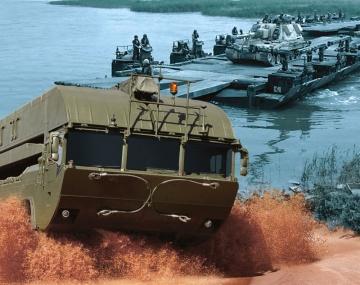Obojživelné mostní vozidlo M3.
