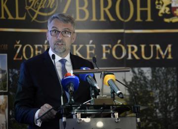 Ministr obrany Lubomír Metnar (za ANO) vystoupil 13. června 2019 v Praze na Žofínském fóru.