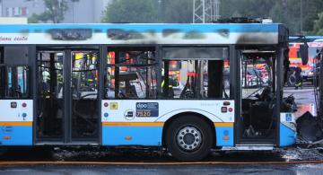Celkem 12 zaparkovaných autobusů poškodil 15. června 2019 večer požár v garážích Dopravního podniku Ostrava.
