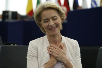 Ursula von der Leyenová v Evropském parlamentu po zvolení šéfkou Evropské komise.