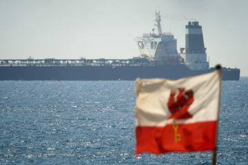 Íránský ropný tanker Grace 1 zadržený u Gibraltaru.