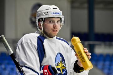Útočník Martin Réway na tréninku kladenských hokejistů 29. července 2019 v Kladně.
