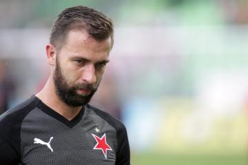 Fotbalista Josef Hušbauer ze Slavie.