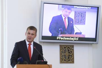 Ministr zahraničních věcí Tomáš Petříček vystoupil 26. srpna 2019 v Praze na pravidelné poradě vedoucích zastupitelských úřadů ČR v zahraničí.