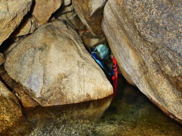 Na snímku z 6. července 2019 je jeskyně Bílého Štolpichu v Jizerských horách.