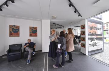 Mezinárodní festival dokumentárních filmů Ji.hlava otevřel 14. října 2019 Maják na Masarykově náměstí v Jihlavě.