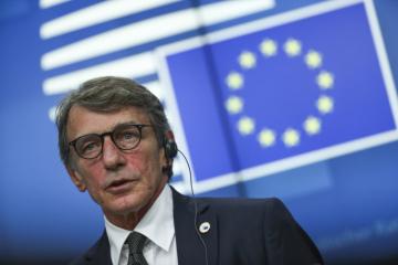 Předseda Evropského parlamentu David Sassoli.