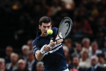 Srbský tenista Novak Djokovič v osmifinále turnaje v Paříži.