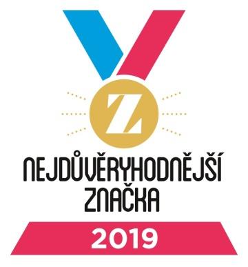 Logo soutěže Nejdůvěryhodnější značka 2019.