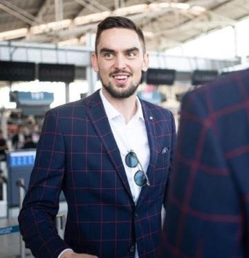 Česká módní značka Blažek navázala spolupráci s basketbalovou reprezentací České republiky. Na snímku Tomáš Satoranský.