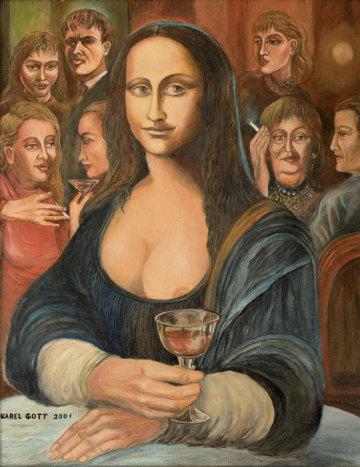 Obraz Mona Lisa od nedávno zesnulého zpěváka Karla Gotta byl na aukci Galerie Kodl 1. prosince 2019 v Praze vydražen za více než dva miliony včetně přirážky.