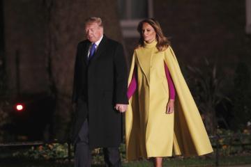 Americký prezident Donald Trump s manželkou Melanií míří do sídla britského premiéra v Londýně na snímku ze 3. prosince 2019.
