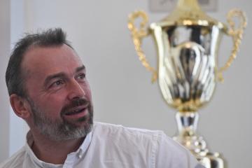 Patron turnaje Jaromír Blažek na tiskové konferenci uspořádané 3. ledna 2020 v Praze k zahájení zimní fotbalové Tipsport ligy a Malta Cupu 2020.