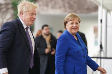 Německá kancléřka Angela Merkelová a britský premiér Boris Johnson (na snímku z 19. ledna 2020).